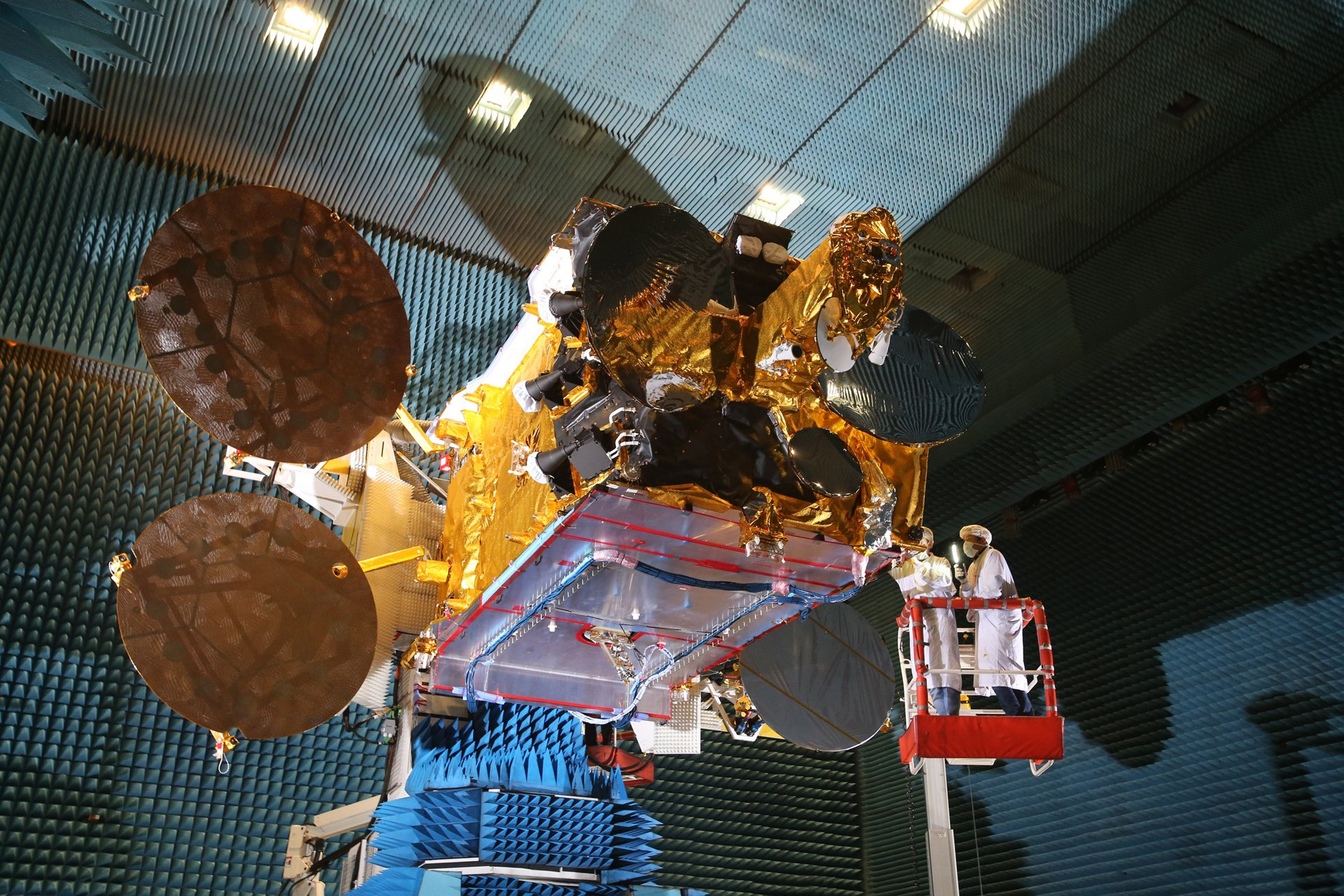 Arabsat 6B, the Seventh Eurostar satellite from Airbus Defence and Space to the Arab Satellite Communications Organisation, in Airbus facilities in Toulouse
