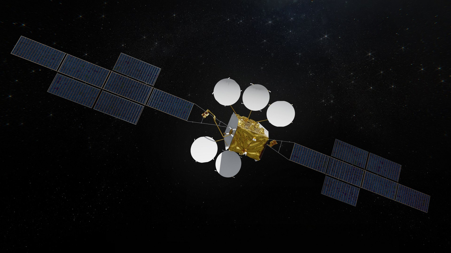 With the new Eurostar Neo platform, the payload capacity can be greatly increased, with the Communication Module able to accommodate up to 2 tons of payload and provide payload power of more than 25kW.  EUTELSAT HOTBIRD 13F and 13G will both have spacecraft power of 22 kW and a launch mass of only 4,500 kg.