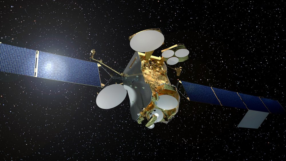 A representation of the Airbus-produced, high-power Eutelsat 172B satellite in orbit.