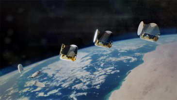 Artist View 3 Satellites OneSat After Launch Copyright Airbus2019