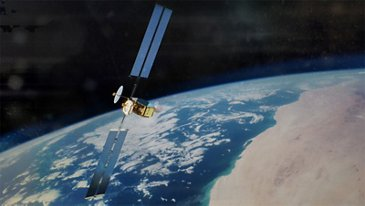 Artist View OneSat Satellite Deployed In Space