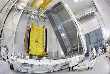 集装箱装载的欧洲通信卫星量子