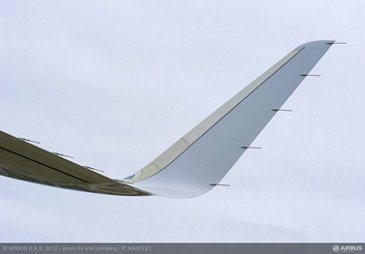 A320 Sharklet close up