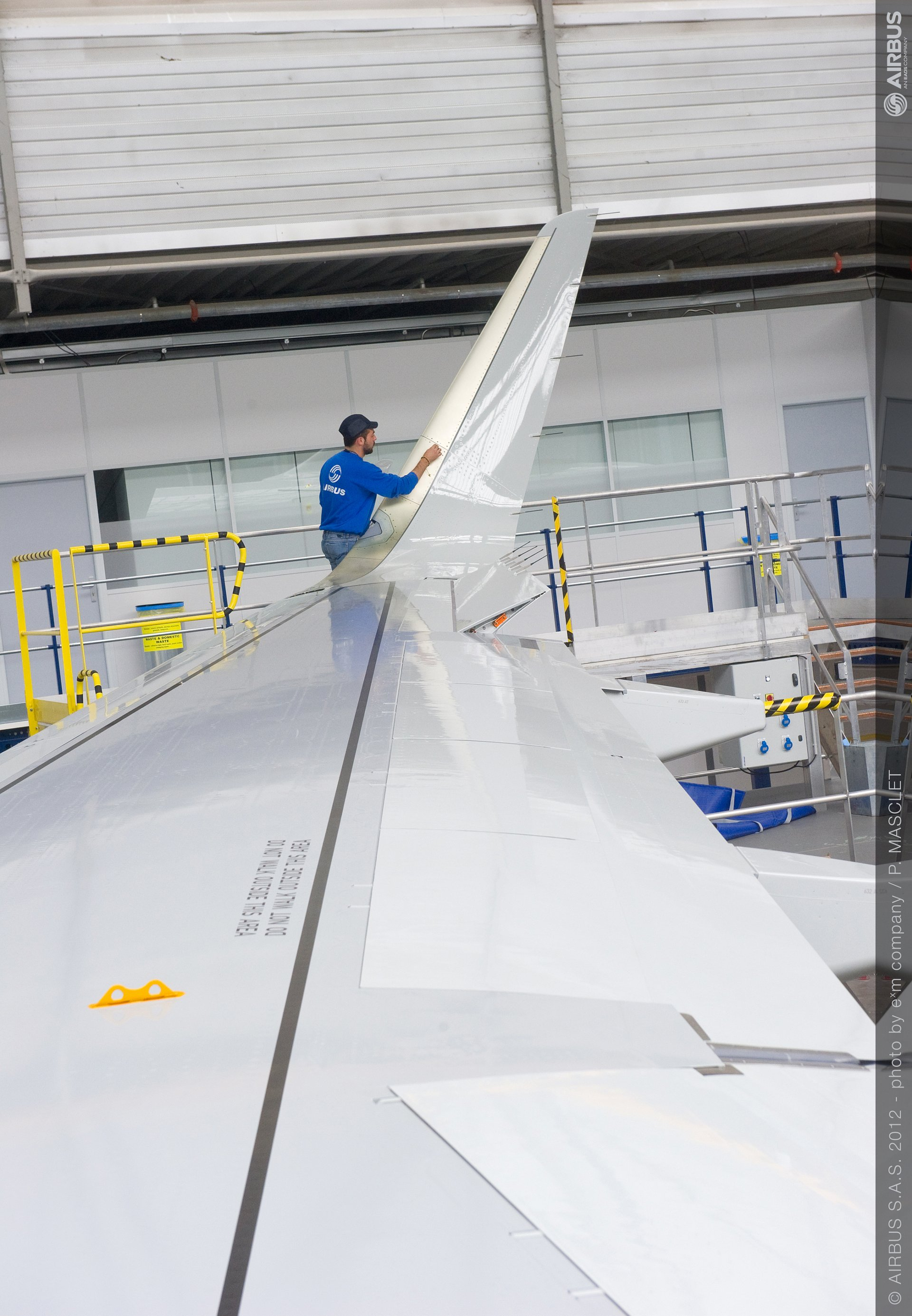 A320 Sharklet installation