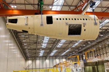 A350 XWB MSN1 aft fuselage