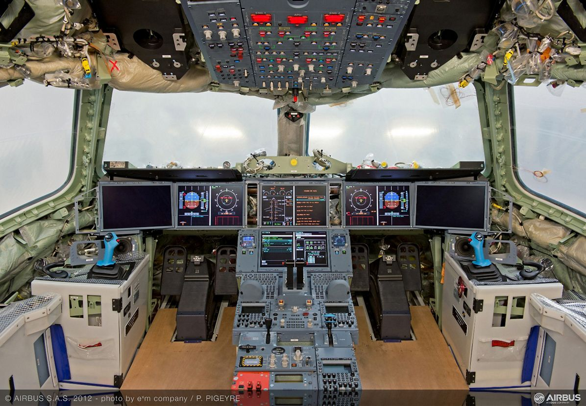 A350 XWB MSN1 flight-deck