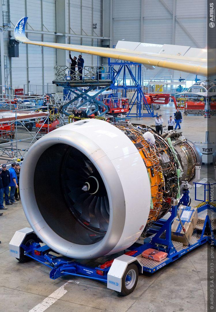 A350 XWB Trent engine installation