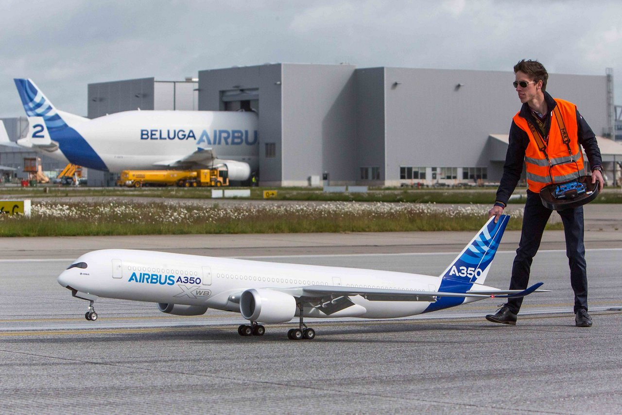 The power of Airbus' A350 XWB in a flyable scale model
