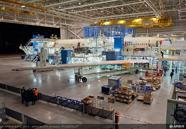 A350 XWB wing join up