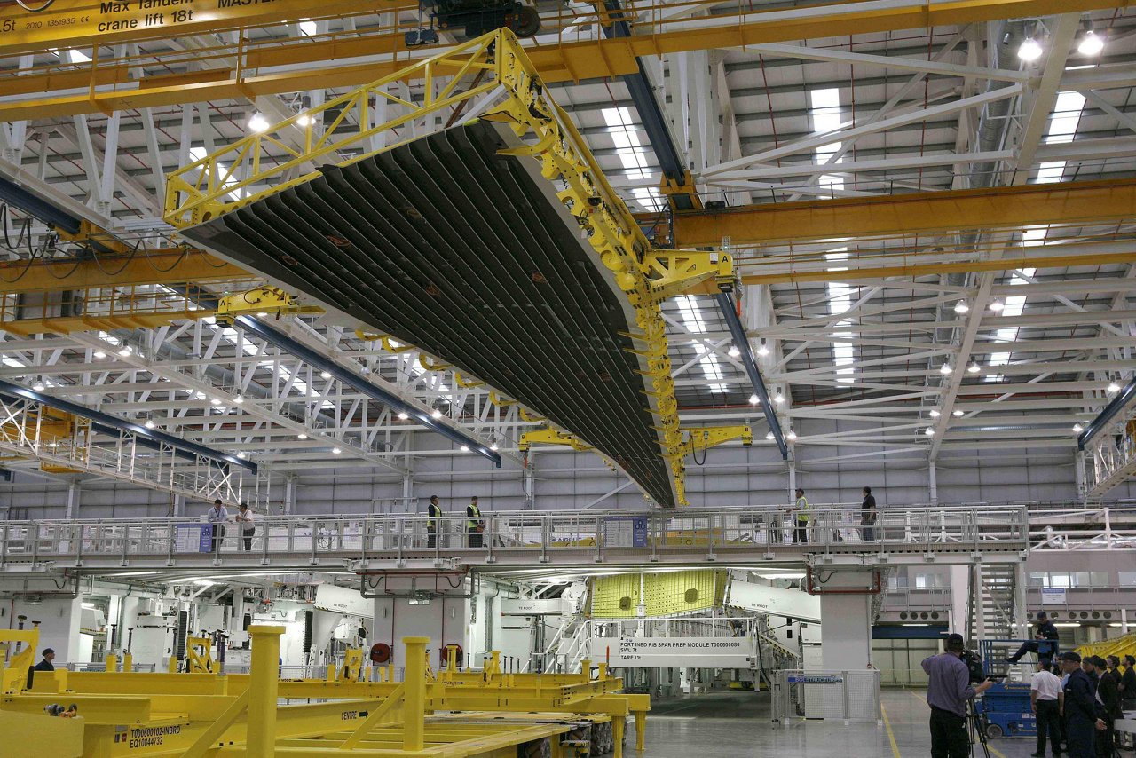 A350 XWB wings production