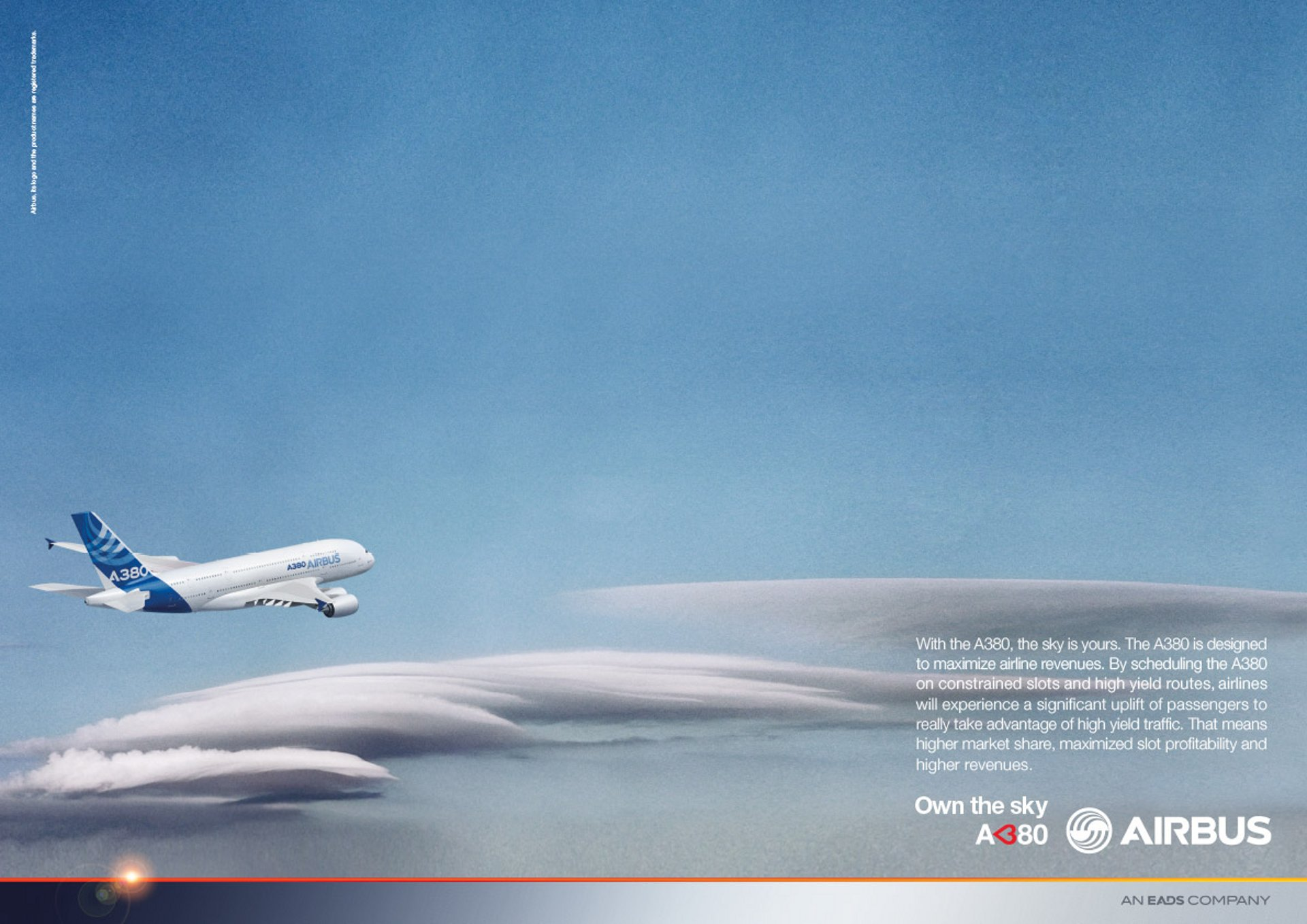 A380 Own The Sky Yield