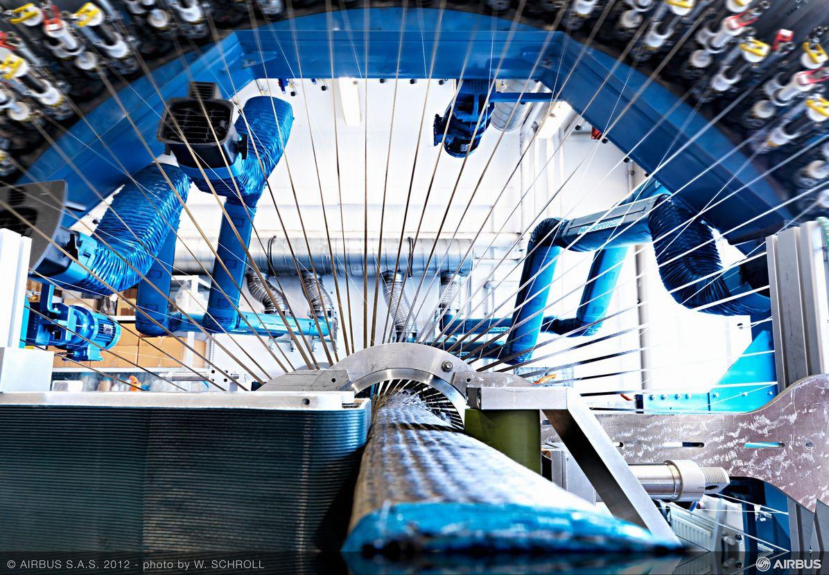 Airbus_Carbon fibre weaving 1