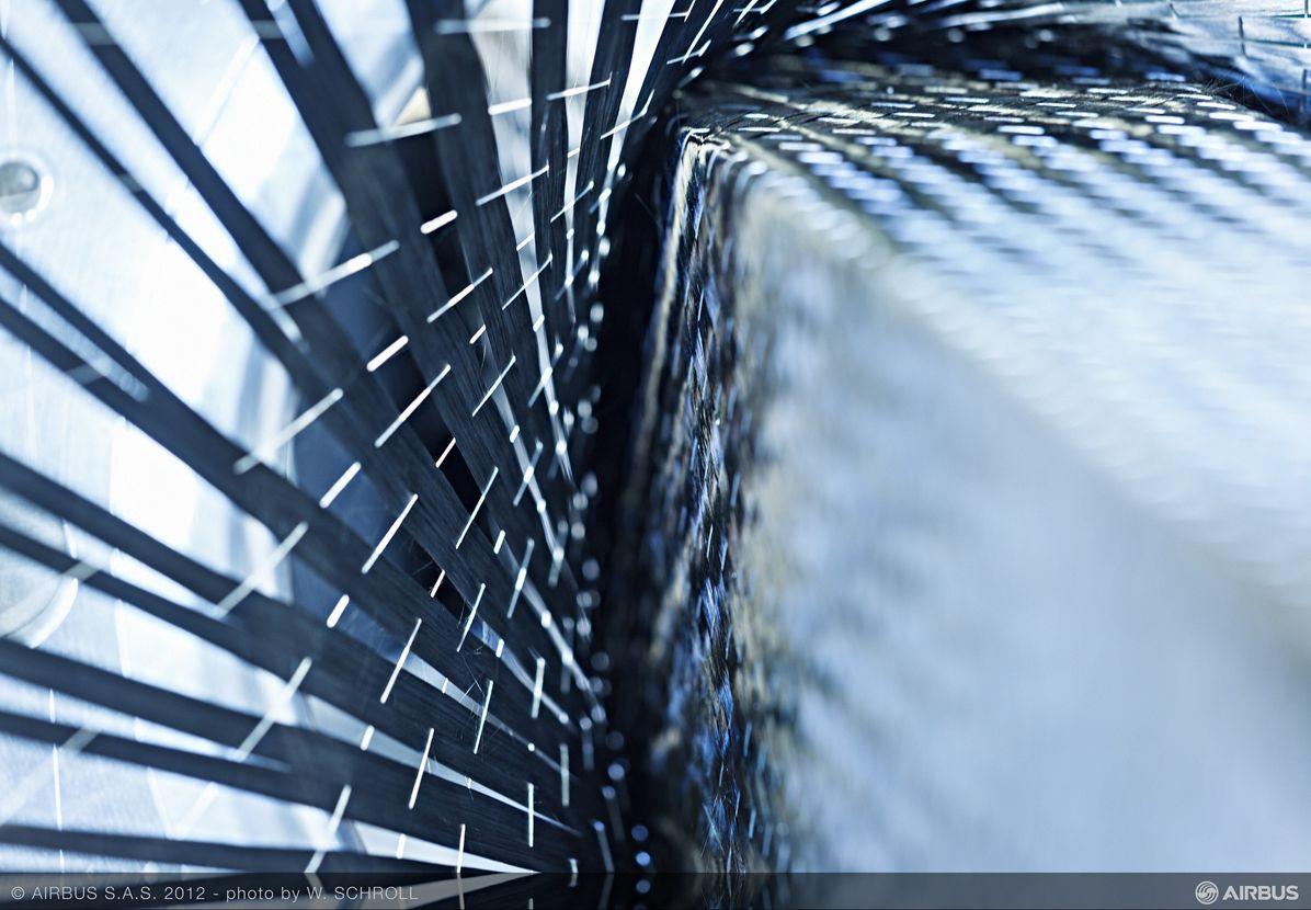 Airbus_Carbon fibre weaving 4