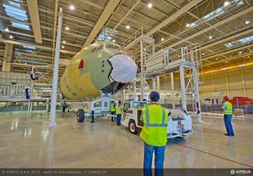 Front fuselage A350 XWB (MSN1)