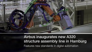 Airbus' A320 structure assembly line in Hamburg