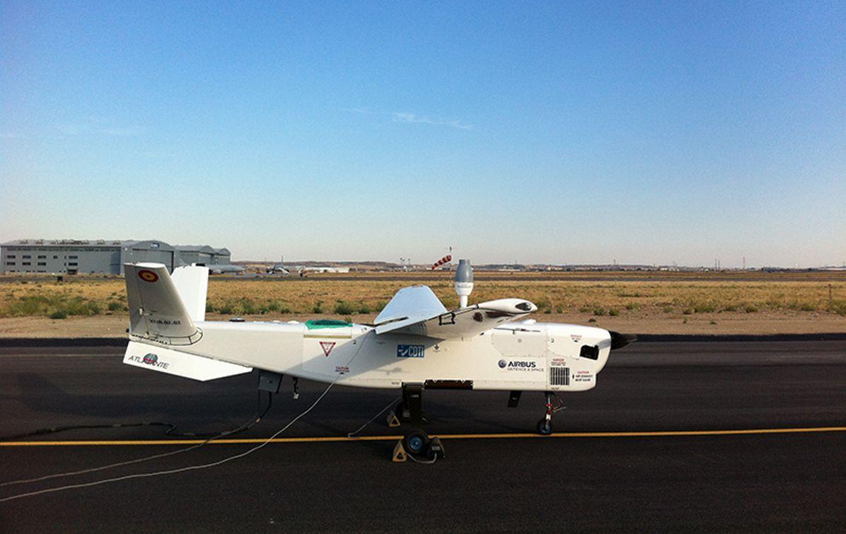 ATLANTE UAV in the ground
