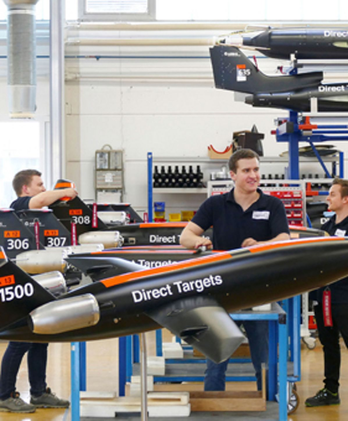 Target Drones Manufactoring, Target drone (Do-DT – direct target) production  at the Friedrichshafen site