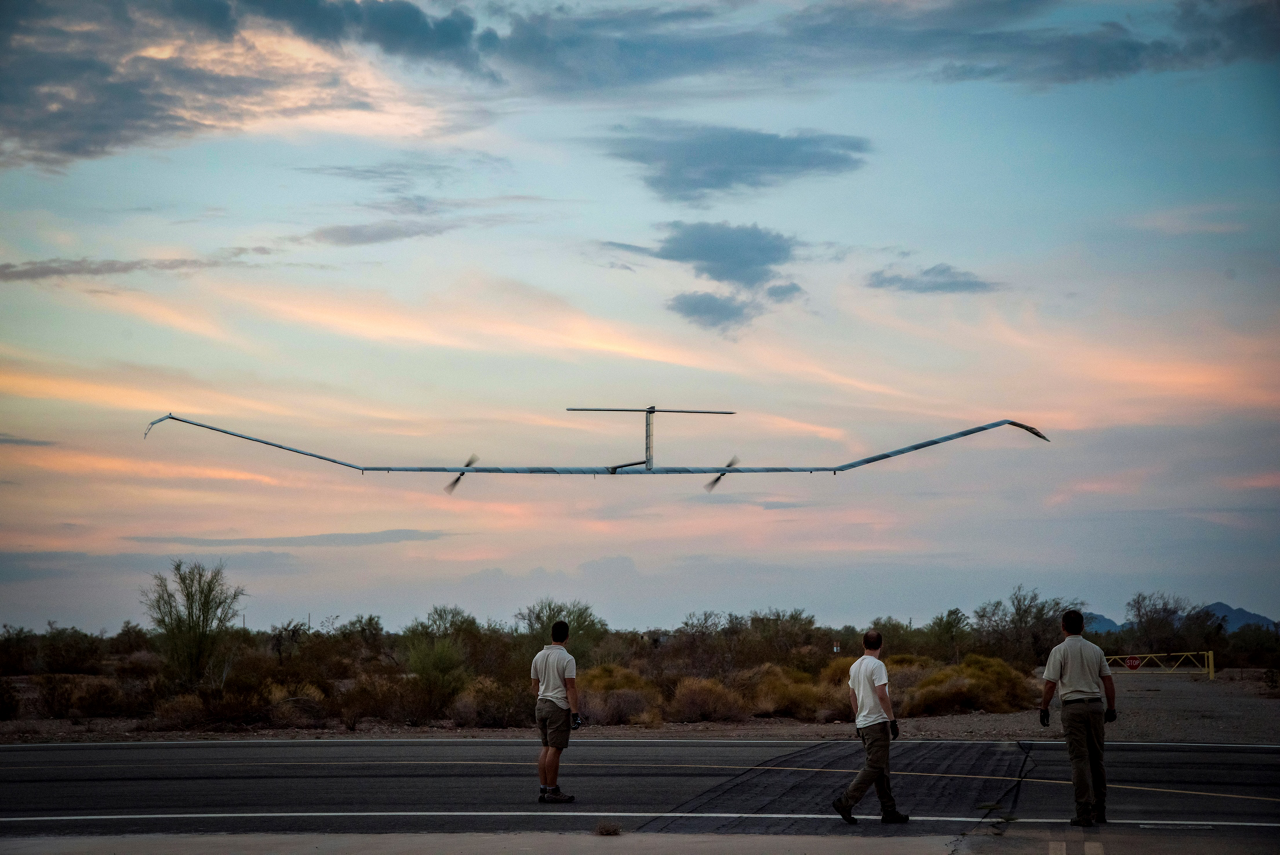 Zephyr's launch requirements are simple compared to traditional aviation. No runway, no airport.