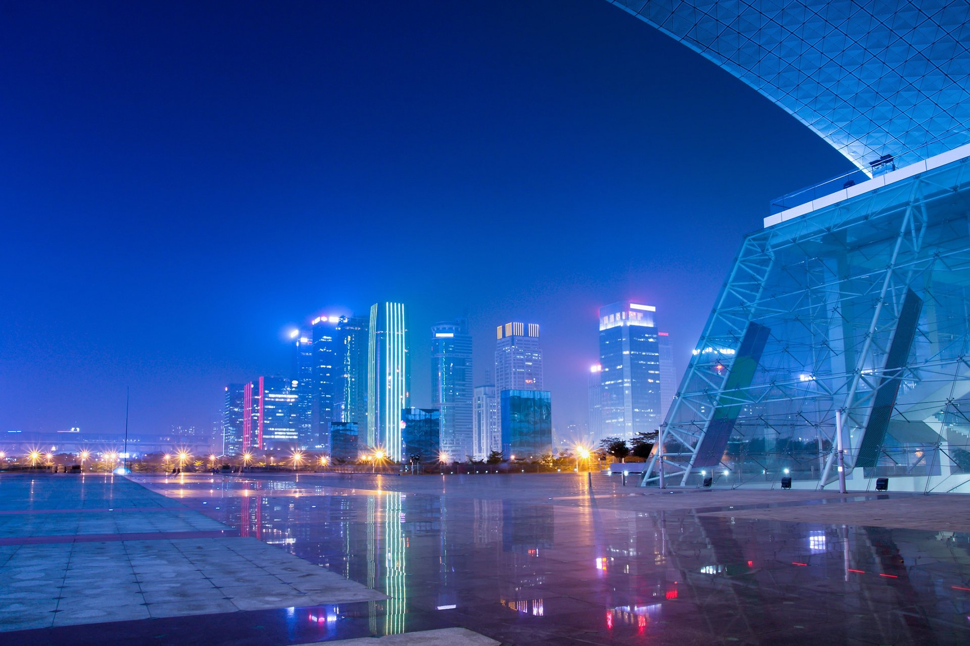 night scenes of shenzhen special economic zone,China