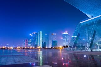 深圳市经济区夜场景