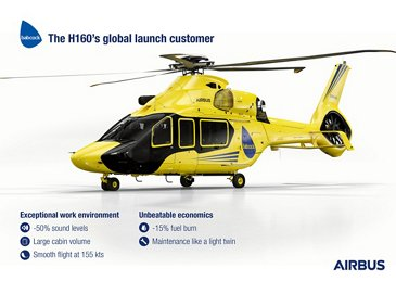 Babcock to become the H160's global launch customer