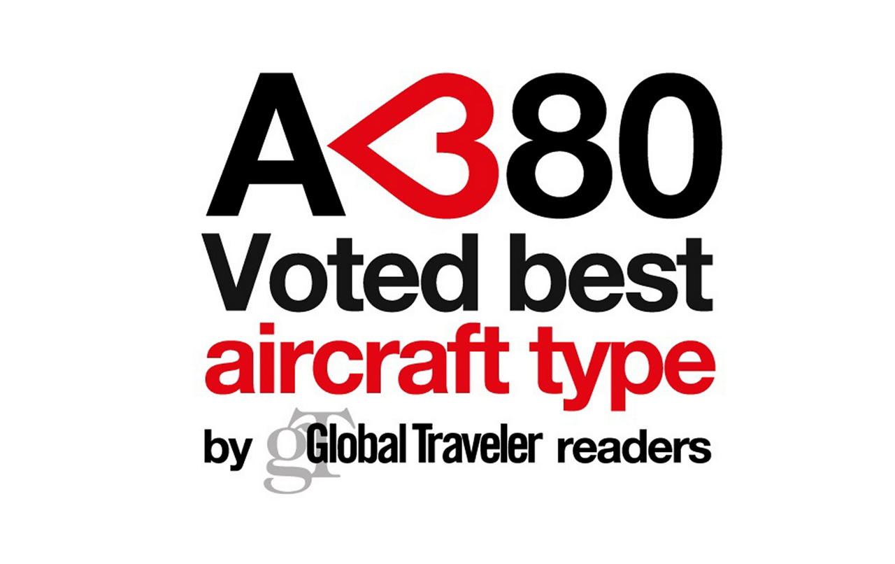 In December 2015, Airbus' 21st century flagship A380 jetliner was recognized as Best Aircraft Type by U.S. publication Global Traveler as part of its 11th annual Tested Reader Survey Awards