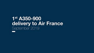 First A350-900 delivery to Air France