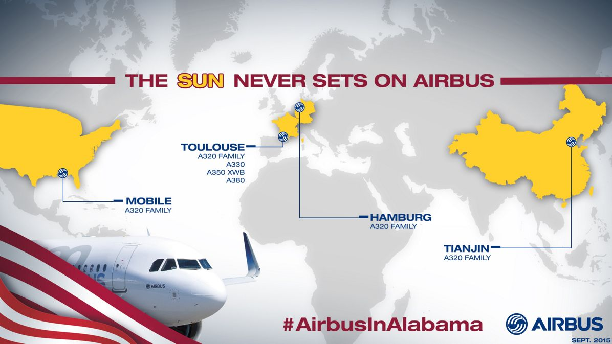 Infographics Mobile The Sun Never Sets On Airbus